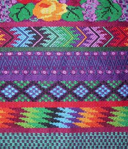 Woven by Esperanza Lopez of San Antonio Aguas Calientes in 2005, this huipil took three months of intense labor to complete.  Photo by Kathleen Mossman Vitale 2005.