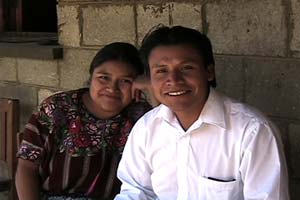 Juanita Rucuch Coyote, a nurse, wears the huipil or blouse of her community, Patzún, while her partner, Fernando Pichiyà, a chofer and guide from Patzicàa, wears a western-style dress shirt. Most Maya men no longer wear traditional traje. Photo by Kathleen Mossman Vitale 2005.